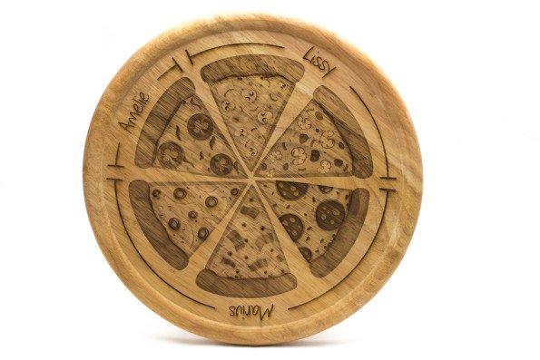 Pizza-Teller mit persönlicher Gravur