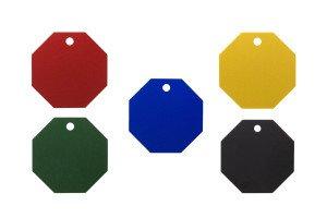 Farbauswahl der Hundemarken in Achteck-Form