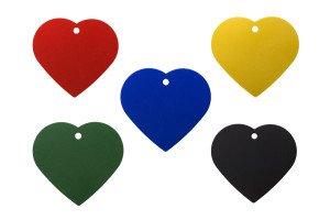 Farbauswahl Hundemarken Herz
