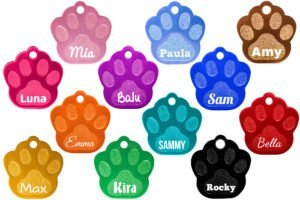 "Farbenauswahl Hundemarke ""Pfoten"""