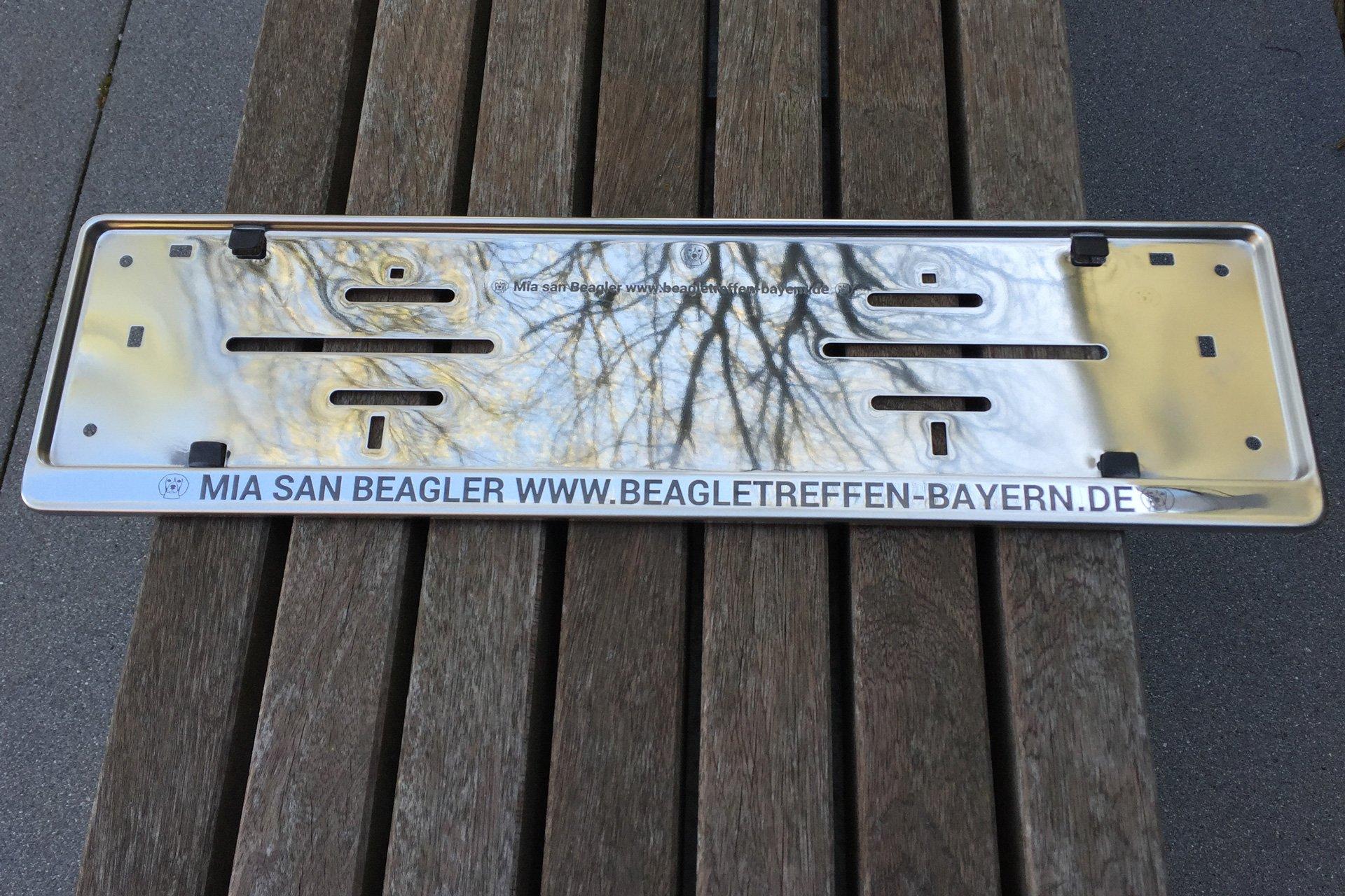 2x Kennzeichenhalter aus Edelstahl mit Gravur selbst gestaltenSNEG ...
