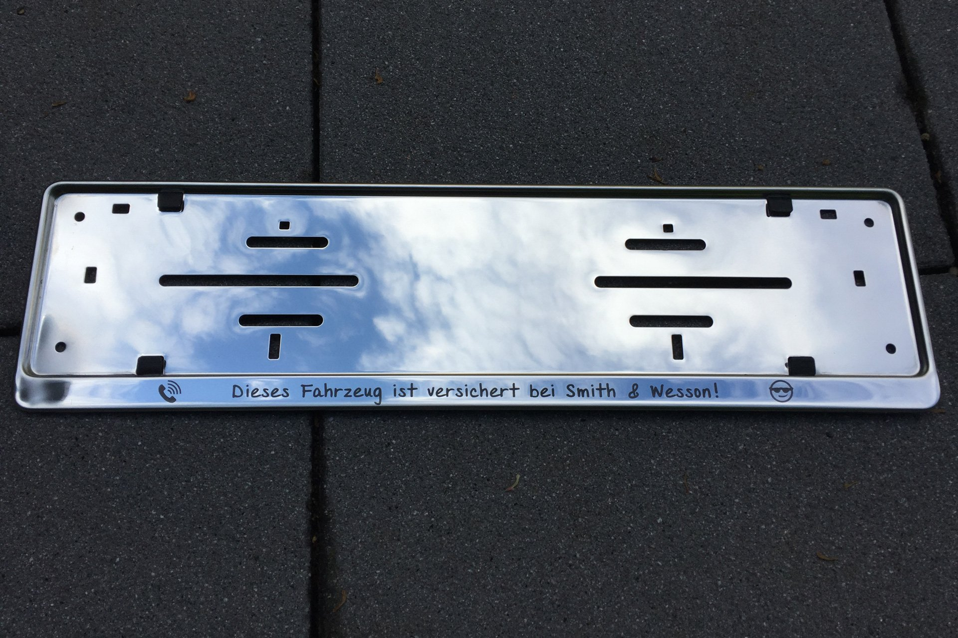 Großartig Benutzerdefinierte Metall Nummernschildrahmen Galerie ...