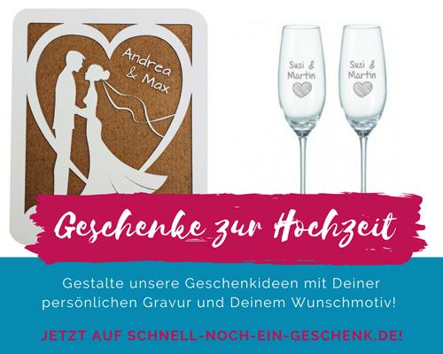 Geschenke zur Hochzeit auf SNEG.de bestellen!