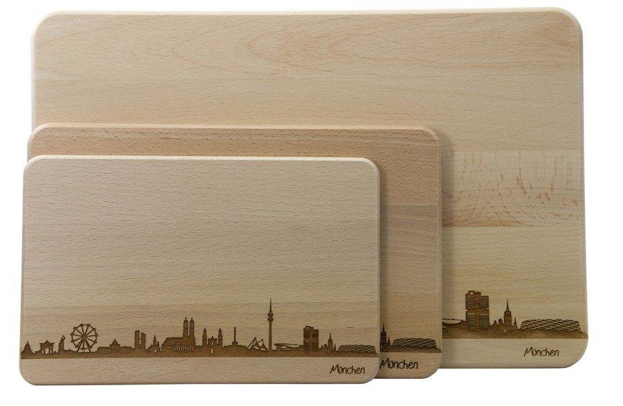Die 3 verschiedenen Größen der Skylinebretter (Beispiel München)