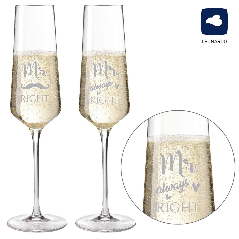 Sektglas Hochzeit 2er Set Mr /& Mrs